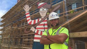 construction worker hides where is Waldo